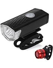Bike Light Set, Gyvazla Bright LED Cycling Lights Set Bicycle Front Safety Head Lights and Bike Rear Flashlight Torch Lamp