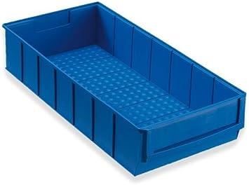 12 Caja industrial azul 400x183x81 mm Cajas Apilables Cajas Apilables Universales Almacén Plástico Cajas Para Guardar Cosas: Amazon.es: Bricolaje y herramientas