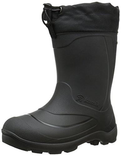 Kamik Snobuster1 Snow Boot (Toddler/Little Kid/Big Kid), Black, 4 M US Big Kid (Kid Boots Boys Big Snow)
