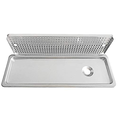 YBB Drip Tray and Drain, 304 Stainless Steel With One Side Sprays for Bar Coffee Shop, Lab, Hospital- 25.4''8.5''1'' by YBB (Image #1)