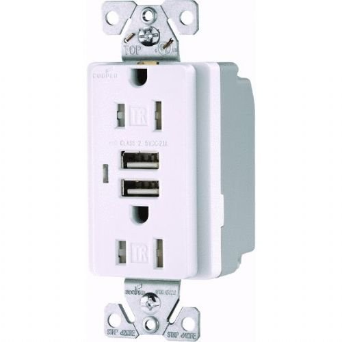 (Cooper Wiring Devices Duplex USB Charging Outlet)