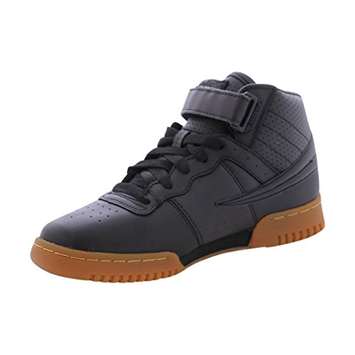 Fila Boy's F 13 Mid Sneakers (6 M US Big Kid, Black)