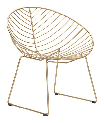 Zuo Lounge Chair One Size Gold (Patio Chair Zuo)