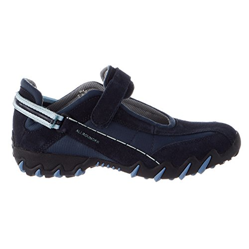Allrounder by MEPHISTO Niro Mary Jane Flat - Dark Blue Suede/Mesh - Womens - 8.5 by Allrounder by Mephisto