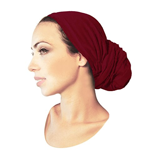 Scarf Tied Fashion (Pre-Tied Head-Scarf Versatile Long Ties Bandana Tichel Headwear Turban Wrap Soft Cotton in 29 Colors! (Burnt Sienna - Long))