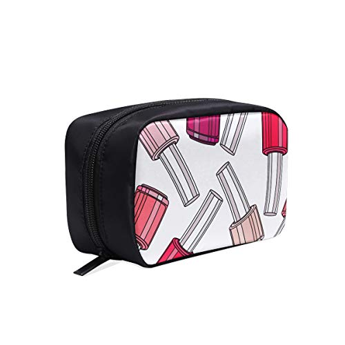- Colourful Nail Polish Portable Travel Makeup Cosmetic Bags Organizer Multifunction Case Small Toiletry Bags For Women And Men Brushes Case