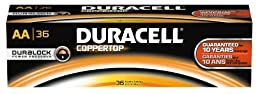 Duracell Professional MN15P36 Coppertop AA Batteries (Pack of 36)