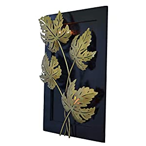 MICROTEX Wooden Fibre Frame with Leaves walldecor|Decoration
