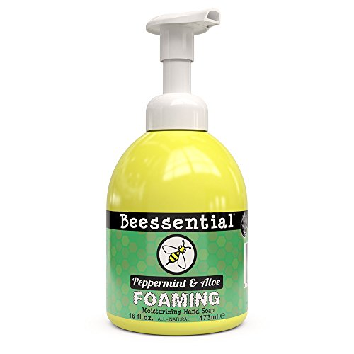 UPC 854980002291, Beessential Refreshing Foaming Moisturizing Hand Soap, Peppermint, 16 Ounce