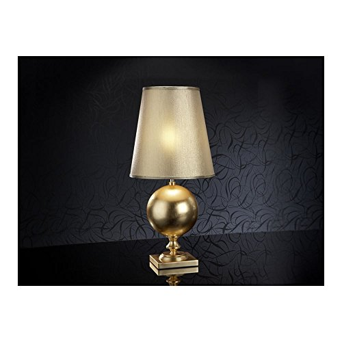Schuller Spain 664443/7376I4L Traditional Gold Shade Table Lamp 1 Light Living Room, bed room, Study, Bedroom LED, Gold shade Gold Table Lamp | ideas4lighting by Schuller