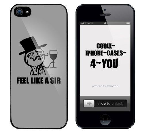 Iphone 5 Case Feel like a Sir Rahmen schwarz