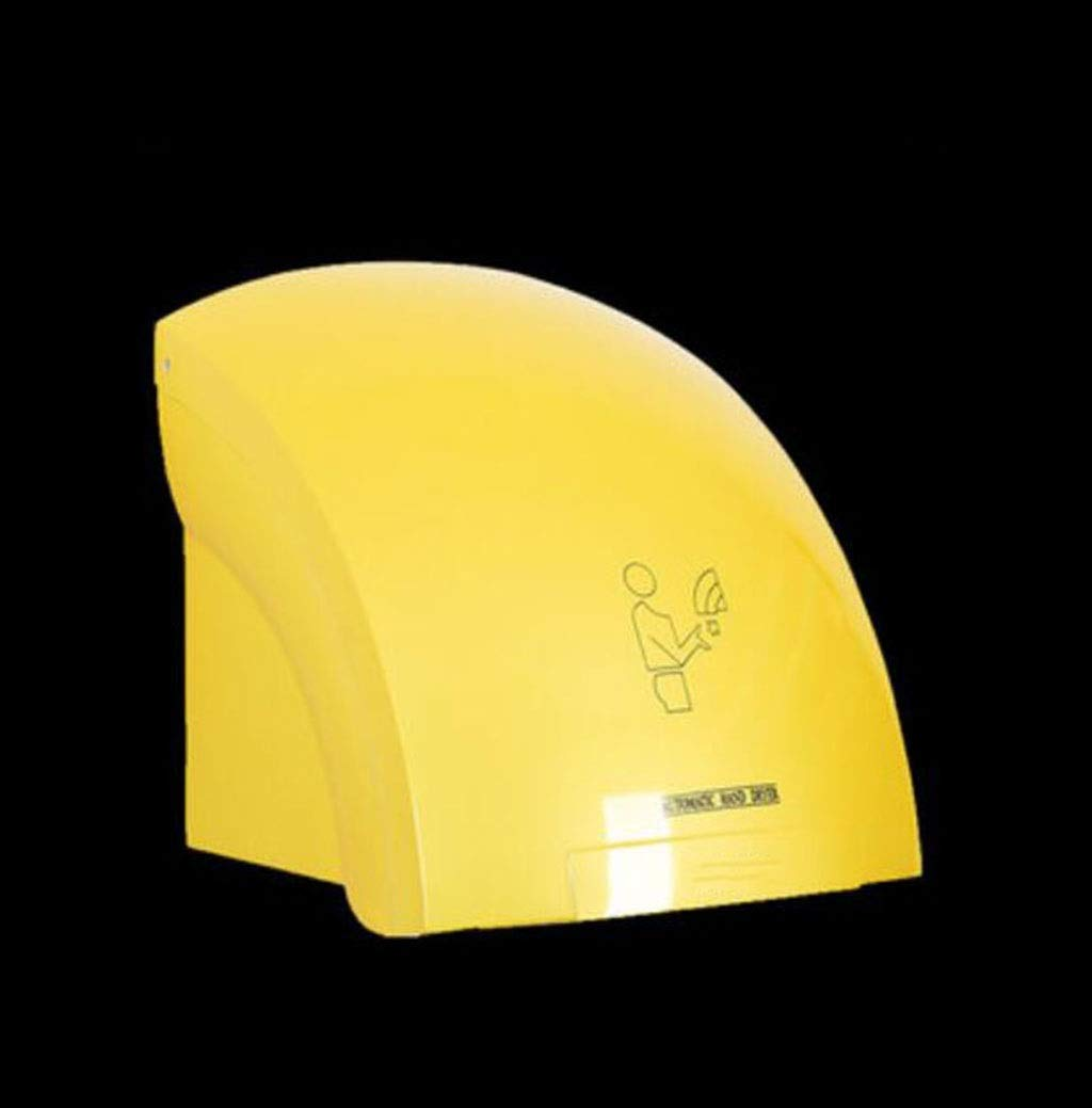 GHGJU Hand Dryer Automatic Induction Dryer Hand Commercial Bathroom Dryer Smart Home Hand Dryer Suitable for bathrooms and Hotels (Color : Yellow) by GHGJU
