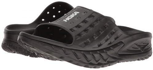 (ホカオネオネ) メンズ 男性用 シューズ 靴 サンダル フラット Ora Recovery Slide - Black/Anthracite [並行輸入品]