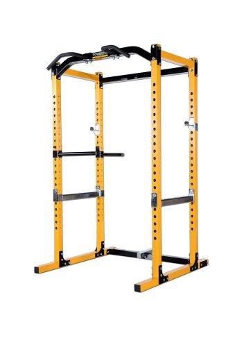 Powertec Fitness Workbench Power Rack, Yellow