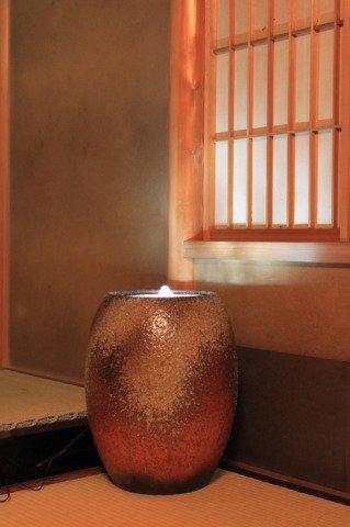 【重蔵窯】利休信楽 水琴窟 光の琴音-201火色古信楽 B00NPQB370