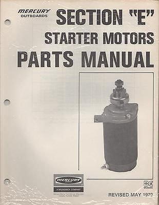 MAY 1979 MERCURY OUTBOARD STARTER MOTORS PARTS MANUAL (798) -
