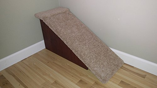 Dog-Cat-Pet Ramps, Handmade in USA, 18'' High Doggy Ramp for Beds, Doxie Ramps, Small Dogs, Senior Dogs by Hampton Bay Pet Steps
