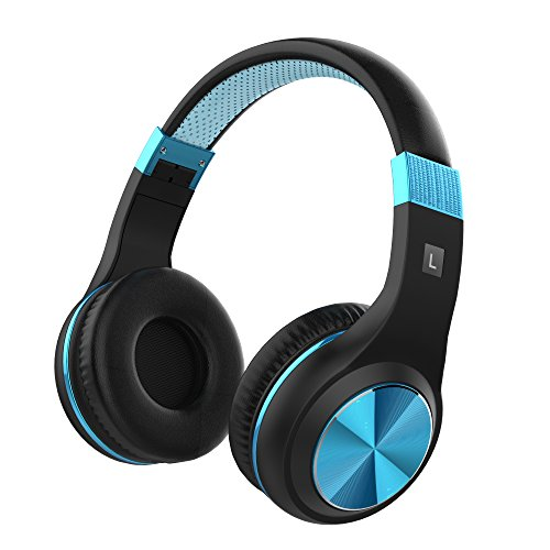 Headphones, Vomach On Ear Headphones with Mic Kids Headphones for School Lightweight Wired Computer Headset Blue