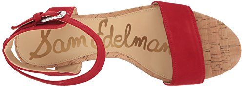 Sandal Red Women's Edelman Passion Suede Wedge Willow Sam wI8Tqv