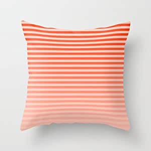 Society6 Beach Blanket Orange Peach Fade Throw Pillow By Lyle Hatch Home Kitchen