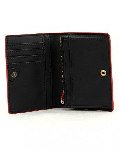 Porta monete con porta carte di credito Desigual rosso
