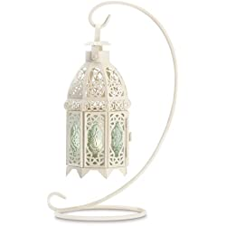 Tom & Co. 10 Wholesale White Fancy Lantern with Stand Wedding Centerpieces