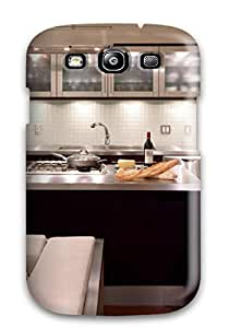 Anti-scratch And Shatterproof Modern Stainless Steel Kitchen With Island Phone Case For Galaxy S3/ High Quality Tpu Case by lolosakes
