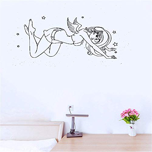 - Yeazo Wall Stickers Quotes Vinyl Art Room Mural Posters Angel with Stars Sexy Girl Naked Beautiful Woman