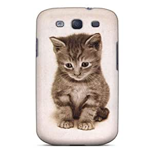 Galaxy S3 NIVvqhr5672ynMhb Lonely Kitty Tpu Silicone Gel Case Cover. Fits Galaxy S3