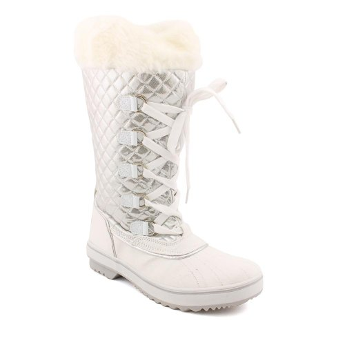 baby-phat-squirt-boot-lace-up-womens-size-8-white-winter-boots