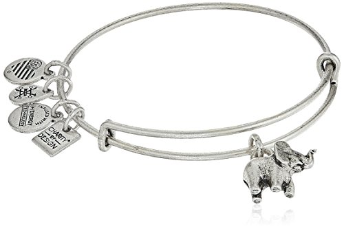 Alex and Ani Charity By Design, Elephant II Rafaelian Silver Bangle Bracelet by Alex and Ani