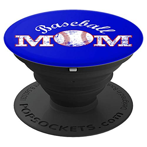 (Baseball Mom Blue - PopSockets Grip and Stand for Phones and Tablets)