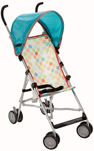 Umbrella Stroller with Canopy in Dots Yellow Metal Jpma Certified