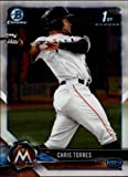 #9: 2018 Bowman Chrome Prospects #BCP207 Chris Torres Miami Marlins RC Rookie MLB Baseball Trading Card