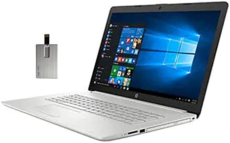 "2020 HP Pavilion 17.3"" FHD IPS Laptop Computer, tenth Gen Intel Core i5-10210u, 32GB RAM, 2TB SSD, Backlit KB, Intel UHD Graphics, HD Audio, HD Webcam, DVD-RW, Win10, Silver, 32GB SnowBell USB Card"