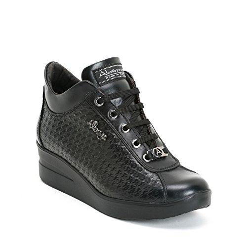 poule Pied Avec En Noir Sneakers Scarpe Cuir amp;scarpe By de Sport Effet Alesya wnU1qZz