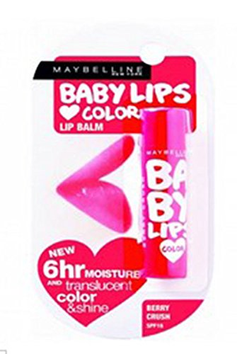 LIP Maybelline Baby Lips Loves Color Tangerine Pop Pink Peony 1 Pcs