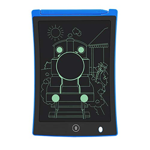 LCD Writing Tablet, 8.5-Inch Writing Board Doodle Board, Electronic Doodle Pads Drawing Board Gift for Kids and Adults at Home,School and Office (Blue)