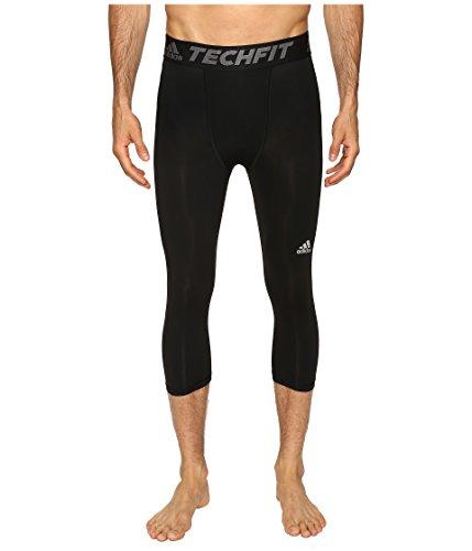 (adidas Men's Training Techfit 3/4 Tights, Black, X-Large)