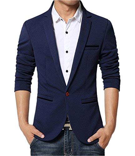 Giacca Da Casual Slim Blazer Suit Dunkelblau Lavoro Uomo Leisure Fit Di Marca Bolawoo Giacche Mode pw7afqnw5