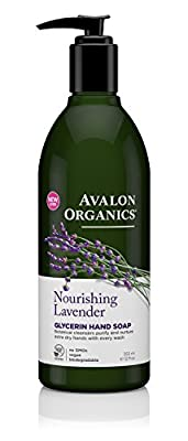 Avalon Organics Nourishing Glycerin Lavender Hand Soap and Hand & Body Lotion Bundle With Aloe, Plant Lipids, Beta-Glucan, Calendula and Vitamin E, 12 fl. oz. each