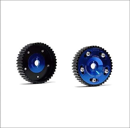 (OBX Blue Adjustable Cam Sprocket 95-99 420a Eclipse Non Turbo 2.0L DOHC 2Pcs)