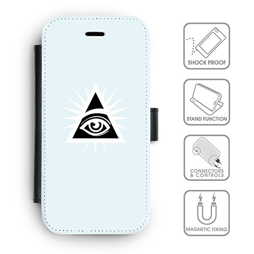 GoGoMobile Coque de Protection TPU Silicone Case pour // Q09110613 Œil Providence 21 Bleu // Apple iPhone 4 4S 4G