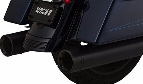 Vance & Hines 46654 Black Oversized 450 Destroyer Slip-on Mufflers for 2017-Newer Harley-Davidson M8 Touring Models