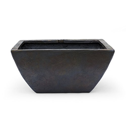 Aquascape 78051 Aquatic Patio Pond Planter, Container Water Garden, Large, Gray Slate