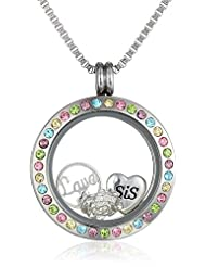 """Charmed """"Sister's Love"""" Locket Necklace,24"""