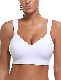 WingsLove Women's Seamless Sports Bra Medium Impact Wirefree Yoga Bras