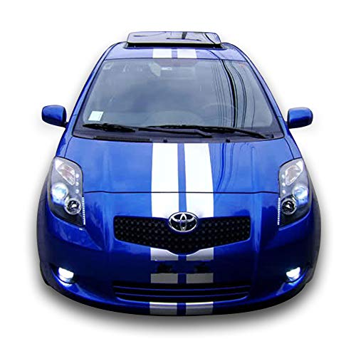 Bubbles Designs Decal Sticker Vinyl Body Racing Stripe Kit Compatible with  Toyota Yaris RS Vitz TS XP90 3 5 Door