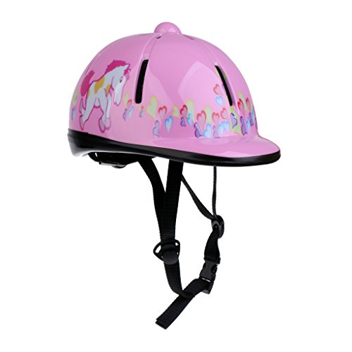 - Homyl Kids/Toddlers Horse Riding Hat Equestrain Helmet Adjustable - Choice of Colors - Pink
