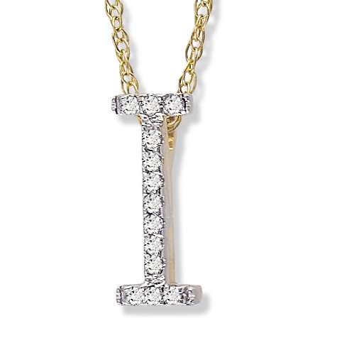 Diamond Initial Pendant I in 1